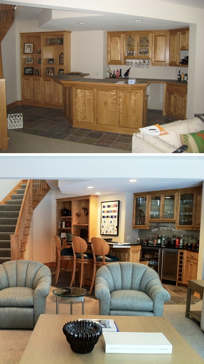 gunkelmans interior design - before and after