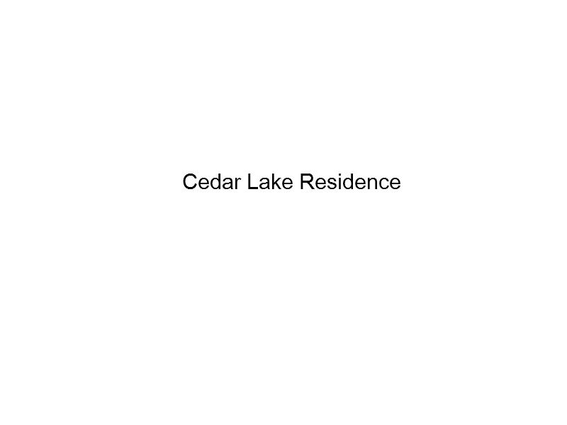 Cedar Lake Residence